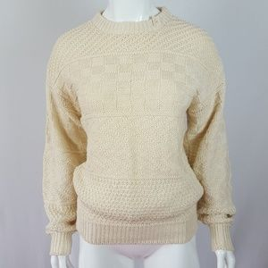 NEW Vintage Cream Chunky Knit Sweater